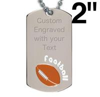 Victory Football Dog Tag